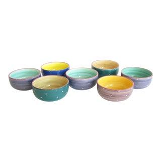 Vintage Essex Collection Bois d'Arc Tutti Fruitti Raúl De Bernarada Portugal Bowls - Set of 7 For Sale