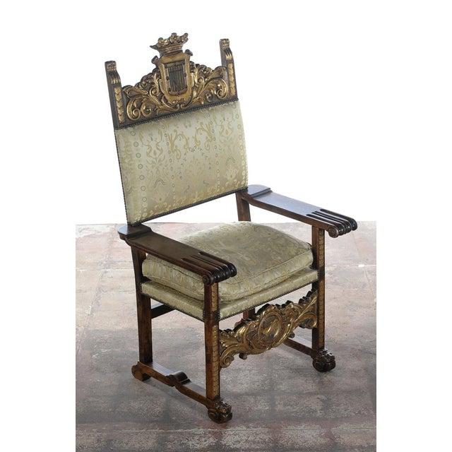 Renaissance Renaissance Arm Chairs - Pair For Sale - Image 3 of 10