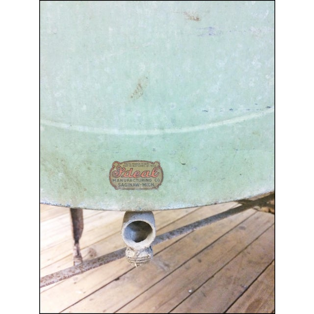 Vintage Speed Queen Green Country Galvanized Double Basin Wash Tub ...