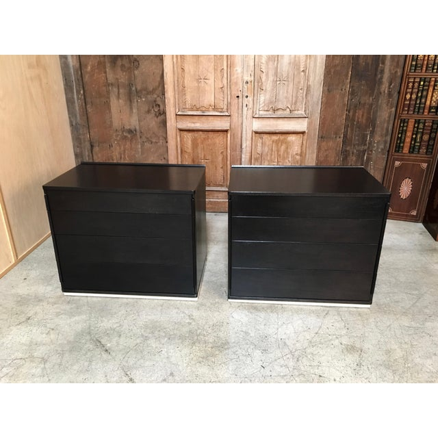 Edward Wormley for Dunbar Ebonized Chests - a Pair For Sale - Image 10 of 10