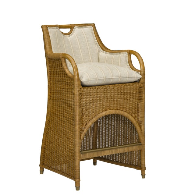 2010s Ralph Lauren Jamaica Wicker Bar Stool For Sale - Image 5 of 5