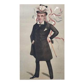"Original 1890 Vanity Fair "" The Duke of Orleans"" France Royalty Print"