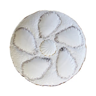 Vintage Majolica Oyster Plates - Set of 4 For Sale