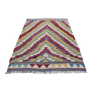 1950s Vintage Petite Turkish Kilim Rug - 2′8″ × 3′1″ For Sale