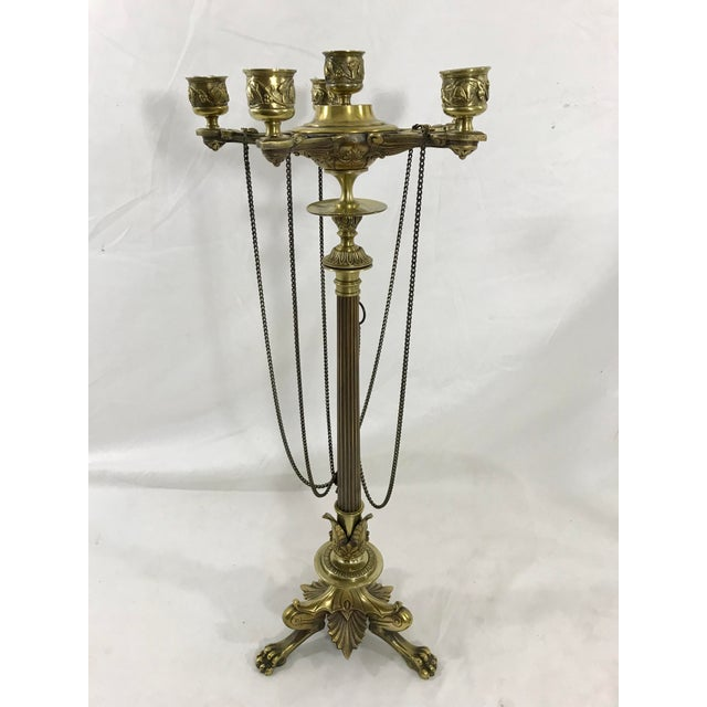 The best of French Post Empire design this pair of Charles X bronze candelabra are the bomb dot com! The inspiration drawn...