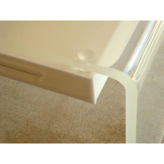 Lucite Waterfall Desk or Vanity For Sale - Image 4 of 6