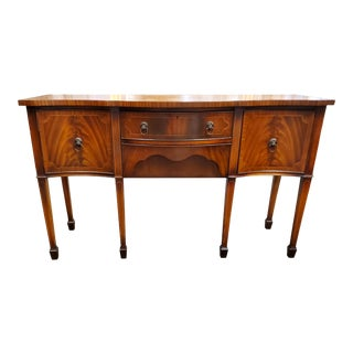 Antique Georgian Style Flamed Mahogany Sideboard For Sale