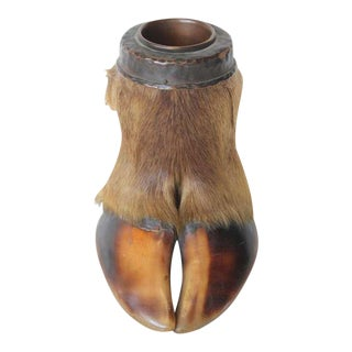 Circa 1900's Taxidermy Hoof Foot Ashtray