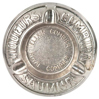 Vintage French Metal Combier Ashtray