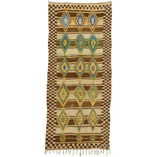 Mid 20th Century Moroccan Berber Rug- 4′10″ × 11′1″ For Sale