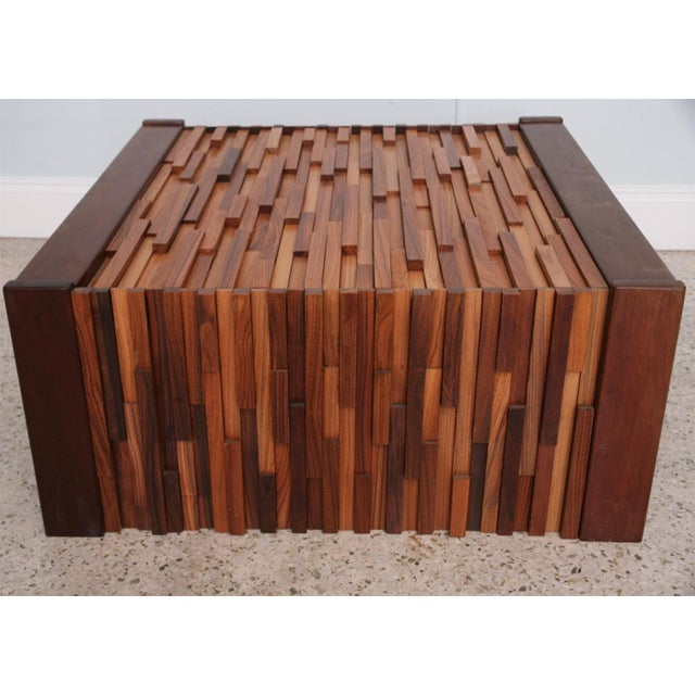 Mid-Century Modern Pair of Brazilian Mixed Wood Low Tables For Sale - Image 3 of 9