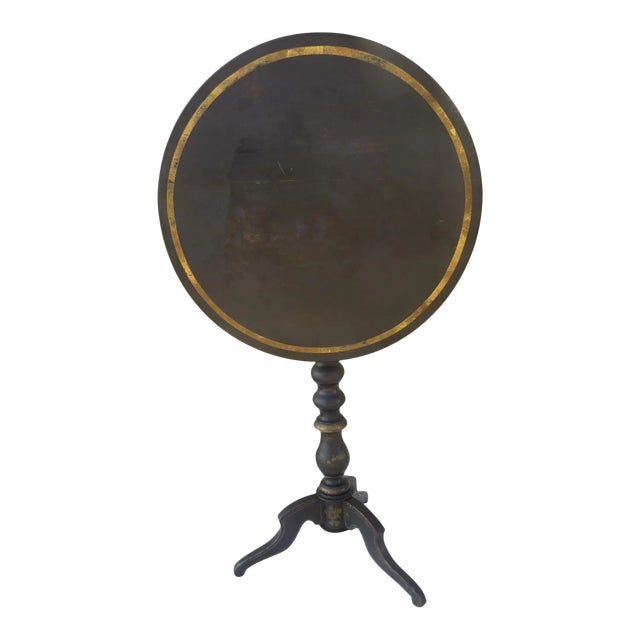English Painted Gilt Tilt Top Table C 1860 Side Table For Sale