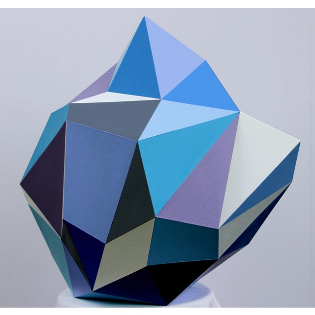 Sassoon Kosian 21st Century Blue Diamond Sculpture by Sassoon Kosian For Sale - Image 4 of 9