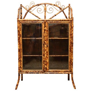 19th Century English Bamboo Cabinet For Sale