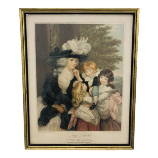 "Antique ""Lady Smith"" Engraving Print in Frame For Sale"