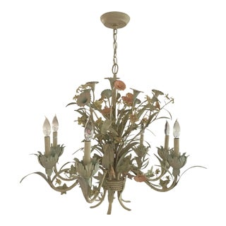 French Provincial Iron Chandelier