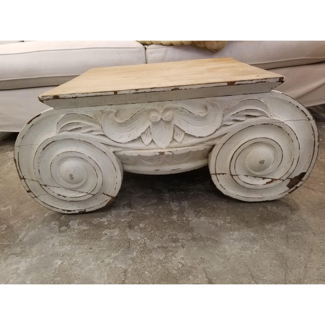 This beautiful coffee table is inspired from 1 of the 3 orders of classical Greek architectural dating to the 5th century...
