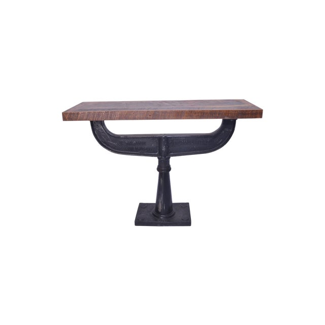 Contemporary Austen Iron Console Table For Sale