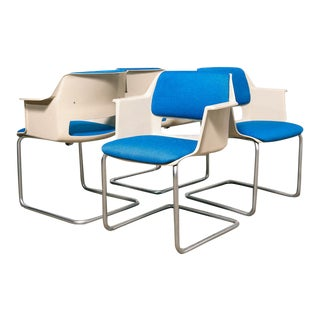 Cordemeijer for Gispen Arm Chairs - Set of 4 For Sale