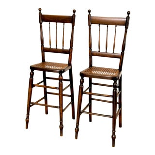 Antique Victorian Children's Cane High Chairs For Sale