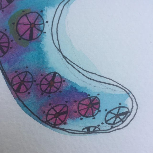 Octopus Watercolor Painting - Image 5 of 6