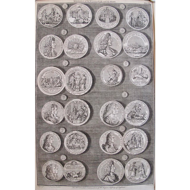 Original 1745 British Engravings, Royal Medals - A Pair - Image 4 of 9