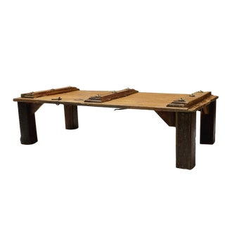 19th-Century Indian Door Coffee Table For Sale