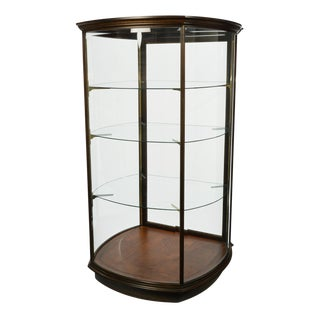 Late 20th Century Transitional Wood and Glass Vitrine Store Fixture For Sale