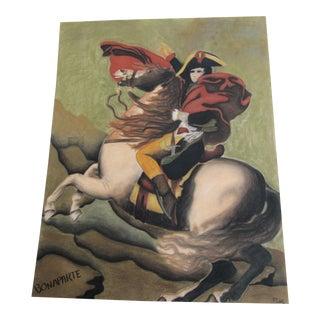 Pastel Painting of Napoleon Bonaparte For Sale