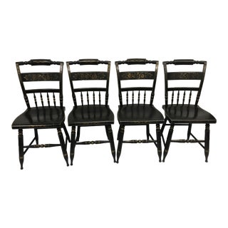 1950s Vintage Hitchcock Colonial Dining Chairs- Set of 4 For Sale