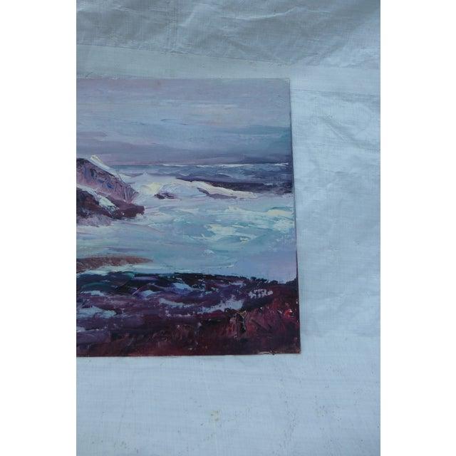 H.L. Musgrave Oil Painting, Turbulent Ocean Scene - Image 6 of 8