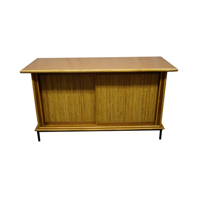Mid-Century Bamboo Rattan Sideboard Credenza - Image 1 of 10