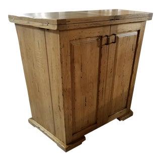 Italian Solid Oak Folding Bar / Island For Sale