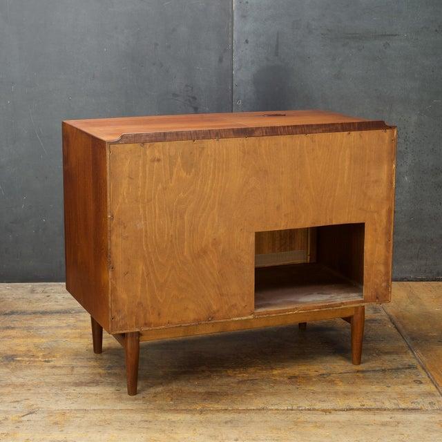 1950s Arne Vodder Hifi Cabinet Teak Tambour Petite Stereo Credenza Danish Midcentury For Sale - Image 5 of 10
