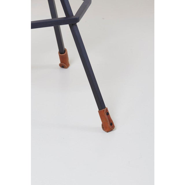 Metal Set of Three Bar Stools by Dan Wenger, Us For Sale - Image 7 of 8