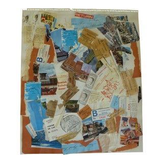 Mid Century Collage Art by Jean Gunther For Sale
