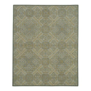 Beige Traditional Pattern Rug - 5′ × 8′