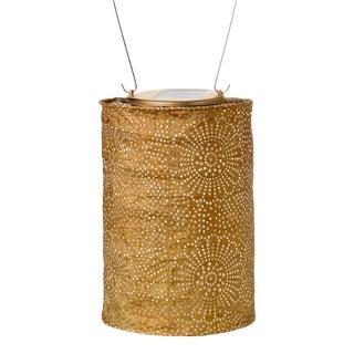 Soji Stella Outdoor Solar Powered Cylinder Lantern in Bronze For Sale