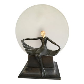 Art Deco Dav Art Figural Accent Lamp