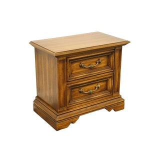 Stanley Furniture Italian Neoclassical Two Drawer Nightstand For Sale