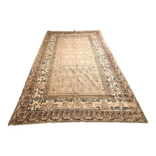 Antique Khotan Rug From East Turkestan - 6′4″ × 11′10″ For Sale
