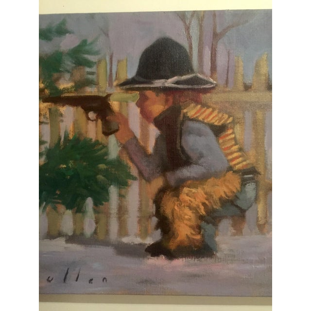 "Mark Pullen ""Little Boy"" Original Oil Painting - Image 5 of 6"