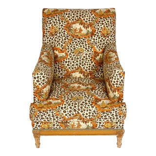 Jansen Style Upholstered Vintage Armchair For Sale