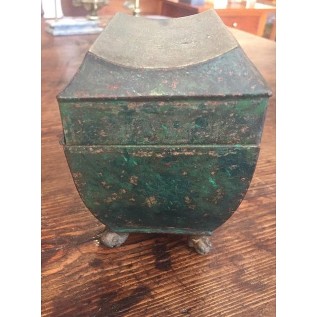Late 19th Century 19th Century Folk Art Patinaed Wooden Caddy For Sale - Image 5 of 7