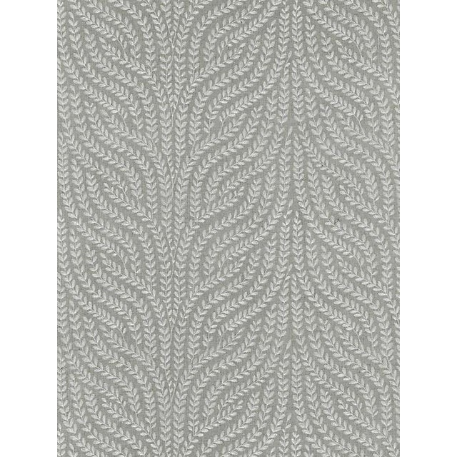 Scalamandre Willow Vine Embroidery, French Grey Fabric For Sale