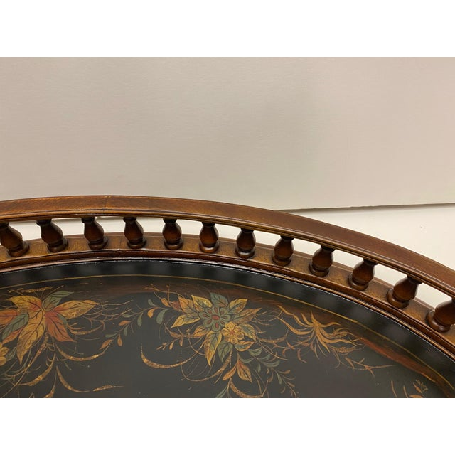 Mahogany Oval Gallery Tray For Sale In Philadelphia - Image 6 of 12