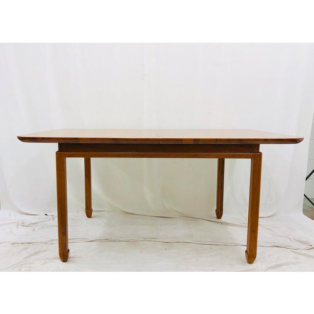 Cherry Wood Vintage Mid Century Modern Dining Table For Sale - Image 7 of 12