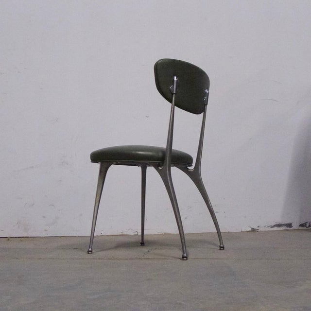 "Shelby Williams Sculptural Aluminum Frame ""Gazelle"" Chairs - Set of 8 For Sale - Image 9 of 11"