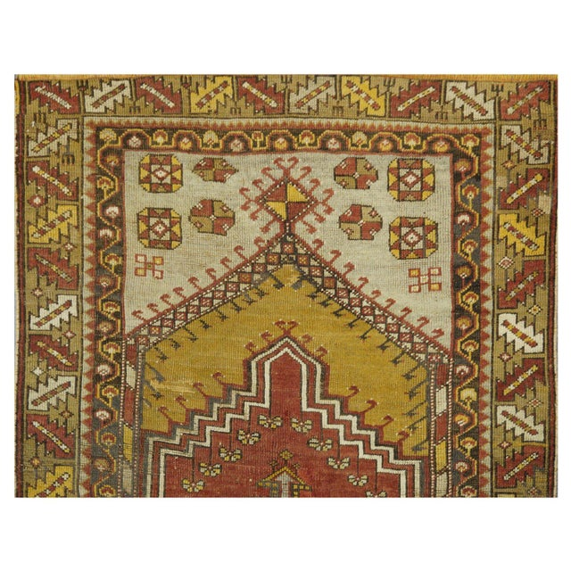 Vintage Turkish Rug - 3′5″ × 5′3″ - Image 3 of 4