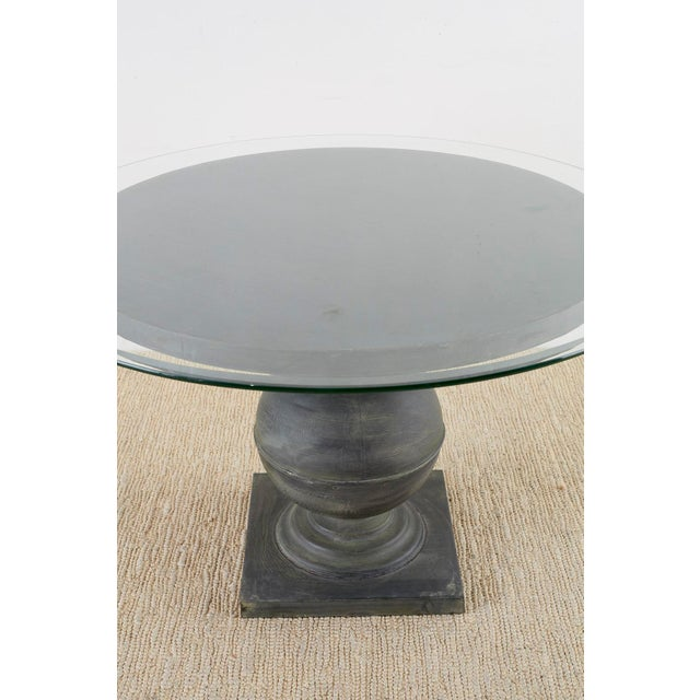 Metal Neoclassical Patinated Metal Pedestal Dining or Centre Table For Sale - Image 7 of 13